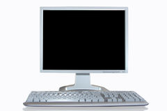 Pc workstation. On white background Royalty Free Stock Images