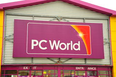 PC world Store front Stock Photo