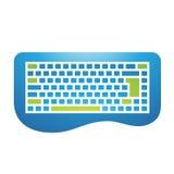PC Zubehör-Tastatur-Ikone Lizenzfreies Stockfoto