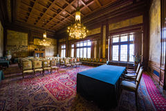 PCA, Permanent Court of Arbitration court room. Courtroom of the Permanent Court of Arbitration inside the Peace Palace in which the sentences are read as final Stock Images