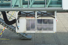 Pca unit. Air conditioning handling pca unit for airplane support at airport Royalty Free Stock Photos