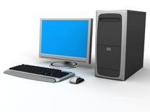 PCarbetsstation Fotografering för Bildbyråer