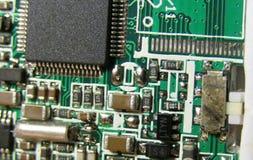 PCB板从上面 免版税库存照片
