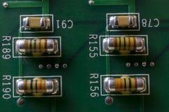 PCB电容器 免版税库存照片