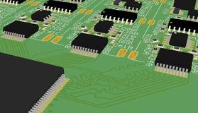 PCB πράσινο Στοκ εικόνες με δικαίωμα ελεύθερης χρήσης
