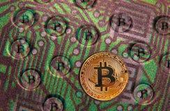 Pcb цепи связи blockchain cryptocurrency Bitcoin стоковые фото