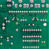 PCB 1. Detail of the backside of a printed circuit board Royalty Free Stock Photography