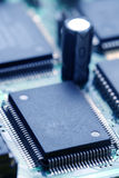 PCB board. With electronic components Royalty Free Stock Image
