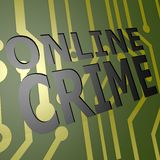 PCB Board with online crime Royalty Free Stock Photos