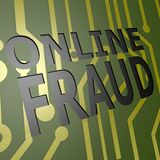 PCB Board with online fraud Stock Photography