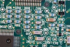 PCB board with small devices royalty free stock image