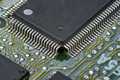 PCB with chip Stock Images