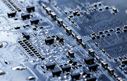 PCB Circuit Closeup Background Royalty Free Stock Photos