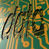 PCB and data word Royalty Free Stock Photography