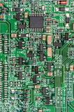 PCB with different components (close-up shot) Stock Images