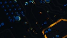 PCB-elektronische techniek van het lay-out de geleidende spoor stock videobeelden