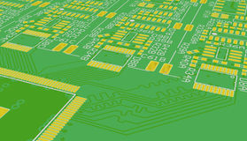 PCB green. Background. Royalty Free Stock Photography