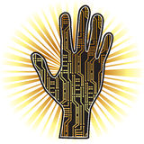 PCB hand Royalty Free Stock Photography