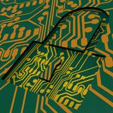 PCB and lock Royalty Free Stock Image