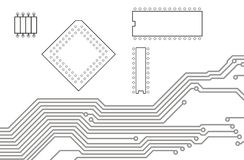 pcb  printed circuit board  6 stock illustration