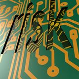 PCB and risk word Stock Images
