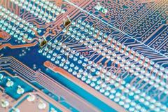 PCB slut för bräde för utskrivaven strömkrets upp royaltyfri fotografi