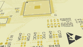 PCB yellow, don't touch. Royalty Free Stock Image