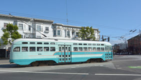 PCC - Presidents Conference Committee streetcar tram in San Fran Stock Image