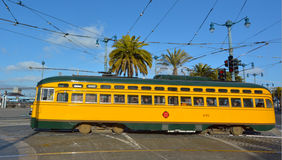 PCC - Presidents Conference Committee streetcar tram in San Fran Royalty Free Stock Images