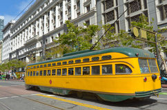 PCC - Presidents Conference Committee streetcar tram in San Fran Stock Images