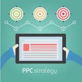 PCC-Strategie visiert Diagramm an Lizenzfreie Stockfotografie