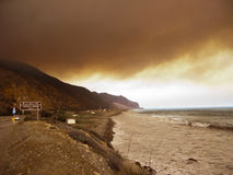 PCH-1 on Brush Fire, Ventura, CA Royalty Free Stock Photo