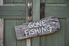 Pêche allée. Photos libres de droits