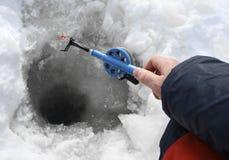 Pêche de l'hiver Photographie stock
