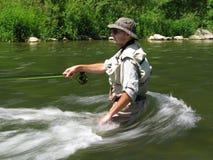 pêche de la mouche Images libres de droits