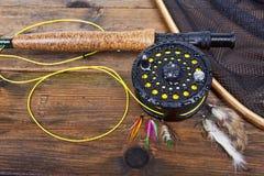 Pêche de mouche Images stock