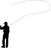 Pêche de mouche Image libre de droits