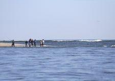 Pêche de vague déferlante Photos libres de droits