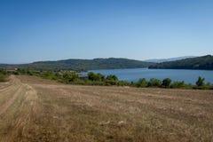 Pchelina水坝看法在保加利亚,欧洲 库存照片
