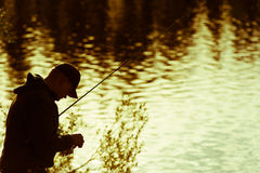 Pêcheur Photographie stock