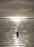 Pêcheur dans Bali Photo stock