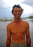 Pêcheur en Asie Image libre de droits