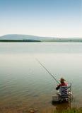 Pêcheur seul Photo libre de droits