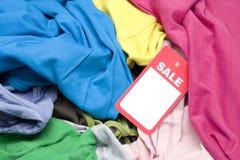 pchli targ ubraniowa sprzedaż Obrazy Stock