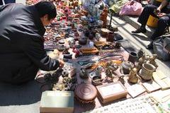 Pchli targ w Harbin, Chiny Obrazy Stock