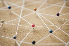 Pchnięcie szpilek sieci związany pojęcie Zdjęcia Stock