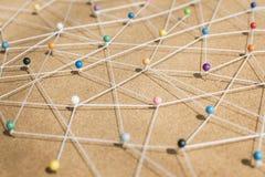 Pchnięcie szpilek sieci związany pojęcie Zdjęcia Royalty Free