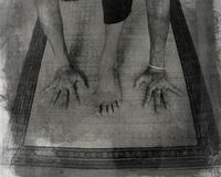 pchnięcie jogi Zdjęcia Royalty Free