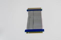 PCI槽孔的造反者在台式计算机 免版税库存照片