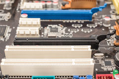 PCI Connector Slots On Motherboard Royalty Free Stock Image